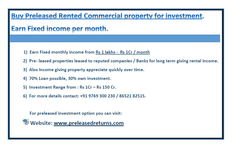 Rented Property For Sale In Banglore